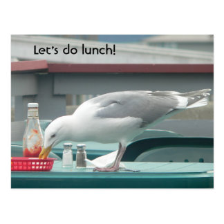 """""""Let's do lunch!"""" Postcard"""