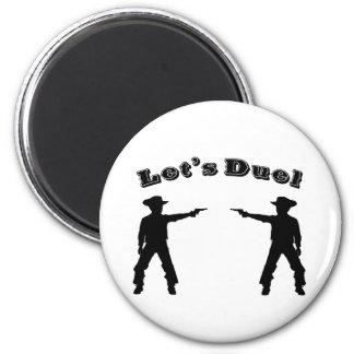 Let's Duel! 6 Cm Round Magnet