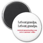 Let's Eat Grandpa 6 Cm Round Magnet