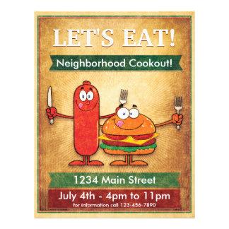 Let's Eat! Neighborhood Cookout 21.5 Cm X 28 Cm Flyer