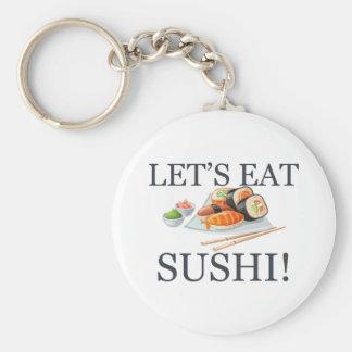 Let's Eat Sushi Key Ring