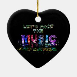 Let's Face the Music & Dance Ceramic Heart Decoration