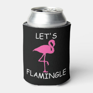 let's flamingle bachelorette can cooler party