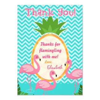 Let's Flamingle Tropical Birthday Thank You Card