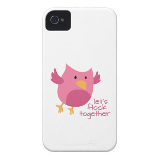Let's Flock Together Case-Mate iPhone 4 Cases