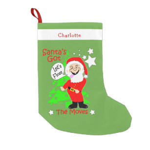 lets floss funny santa claus novelty small christmas stocking - Funny Christmas Stockings