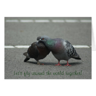 Let's fly around the world together! card