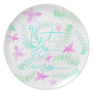 Lets fly away dinner plate