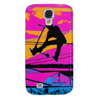 """Lets Fly!""  High Flying Scooter Samsung Galaxy S4 Case"