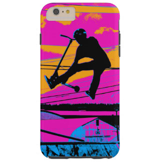"""Lets Fly!""  High Flying Scooter Tough iPhone 6 Plus Case"