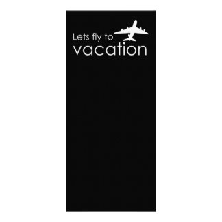 Lets fly to vacation rack card