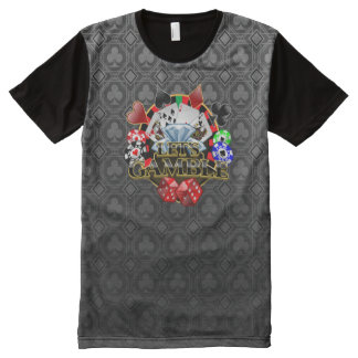 Let's Gamble Clubs All Printed T-Shirt