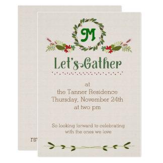 Let's Gather Thanksgiving Invite