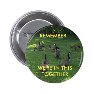 Let's Get Along 6 Cm Round Badge