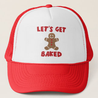 Let's Get Baked Funny Christmas Hats