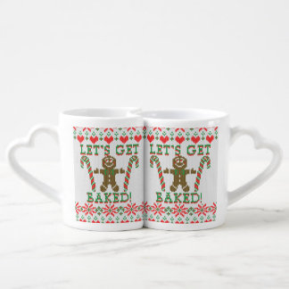 Let's Get Baked The Gingerbread Cookie Says Couples Mug