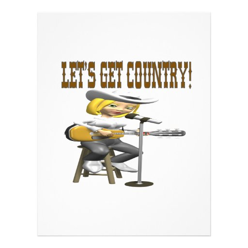 Lets Get Country 2 Full Color Flyer