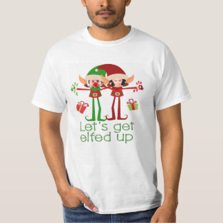 Lets Get Elfed Up Christmas Fun Personalised T-Shirt