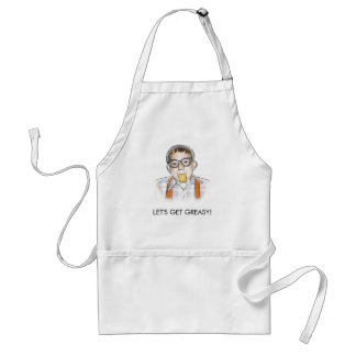 """LET'S GET GREASY!"" Aprons"
