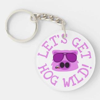 Let's Get Hog Wild Key Ring