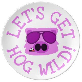 Let's Get Hog Wild Plate