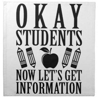 Let's Get Information Napkin