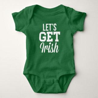 Lets Get Irish St Patricks Day Baby Bodysuit