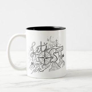Let's Get Lost - Adventure Typography | Mug