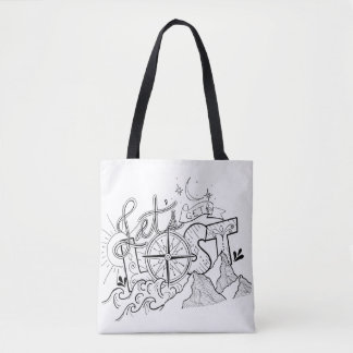 Let's Get Lost - Adventure Typography | Tote Bag