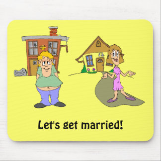 Let's get married 1 mouse pad