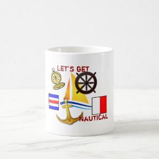 Let's get Nautical - coffee cup Basic White Mug