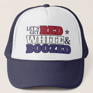 Let's Get Red, White & Boozed Hat
