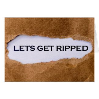 Let's get ripped greeting card