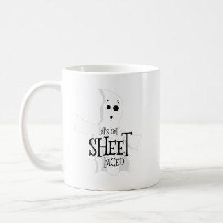 Let's Get Sheet Faced Coffee Mug