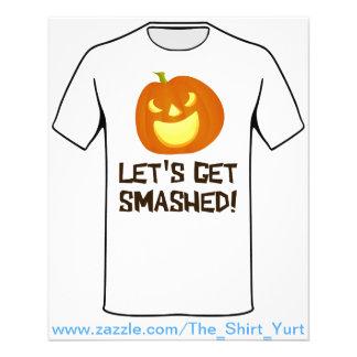 Let's Get Smashed Halloween Party 11.5 Cm X 14 Cm Flyer