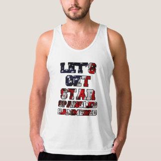 Let's Get Star Spangled Hammered Flag Tank