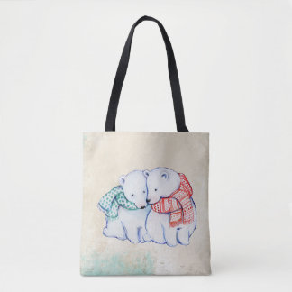 Let's Get Together Christmas Tote Bag