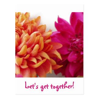 Let's get together! postcard