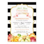 Let's Give Thanks Autumn Thanksgiving Dinner Party 13 Cm X 18 Cm Invitation Card