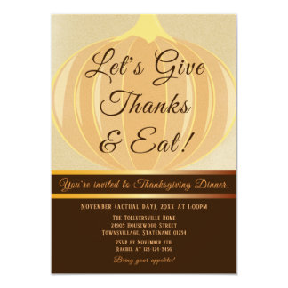 Let's Give Thanks | Thanksgiving Dinner Invitation