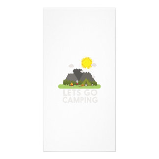 Lets go Camping Photo Cards