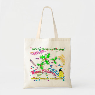 Let's Go Christmas Shopping Budget Tote Bag