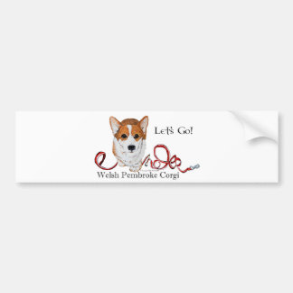 Let's Go Corgi Bumper Sticker
