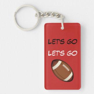 Let's go football keychain