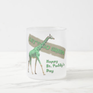 LET'S GO GREEN FROSTED GLASS MUG