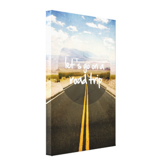 Let's go on a road trip canvas print
