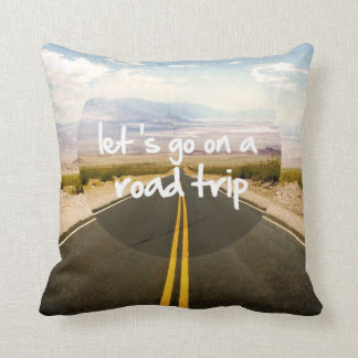 Let's go on a road trip cushion