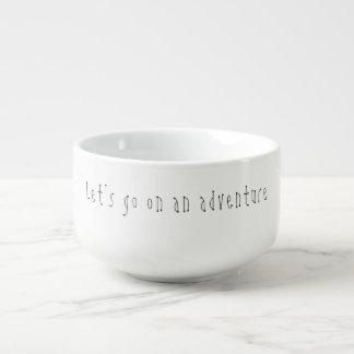 'Let's go on an adventure' Soup Mug