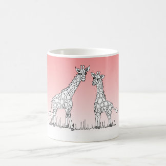 Let's Go on Safari Giraffe Mug