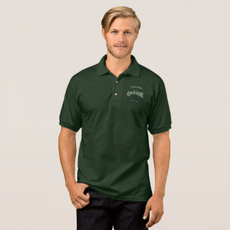Let's Go Outside, Men's Polo, Dark Green Polo Shirt